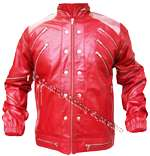 Real Leather METAL SHOULDERS MJ ' Beat It' Jacket (Tailor Made)