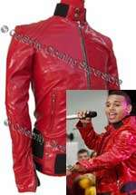 Chris Brown RED Leather Jacket - Pro Series