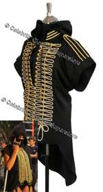 Rihanna Hoodie 'Run This Town' Music Video Military Jacket
