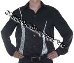 LATIN Dance / Stage / Entertainers FULLY SEQUIN Shirt - CSJ498 - Click Image to Close