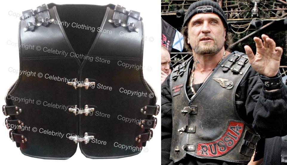 Russian Hells Angels Night Wolves Leather Biker Vest