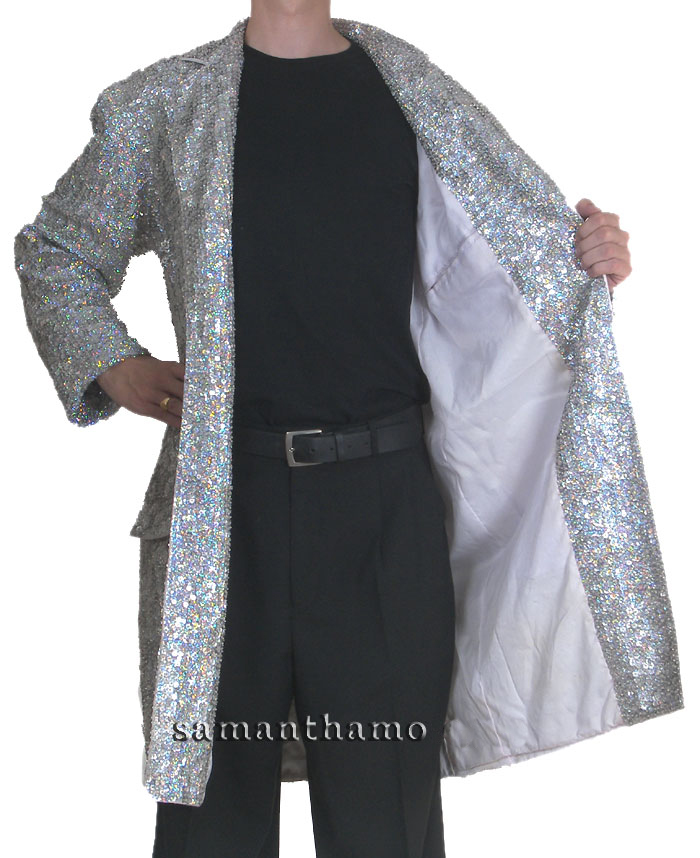 https://michaeljacksoncelebrityclothing.com/sequin-stage-shirts/men-cabaret-clothing/CSJ512-silver-sequin-long-trench-coat.jpg