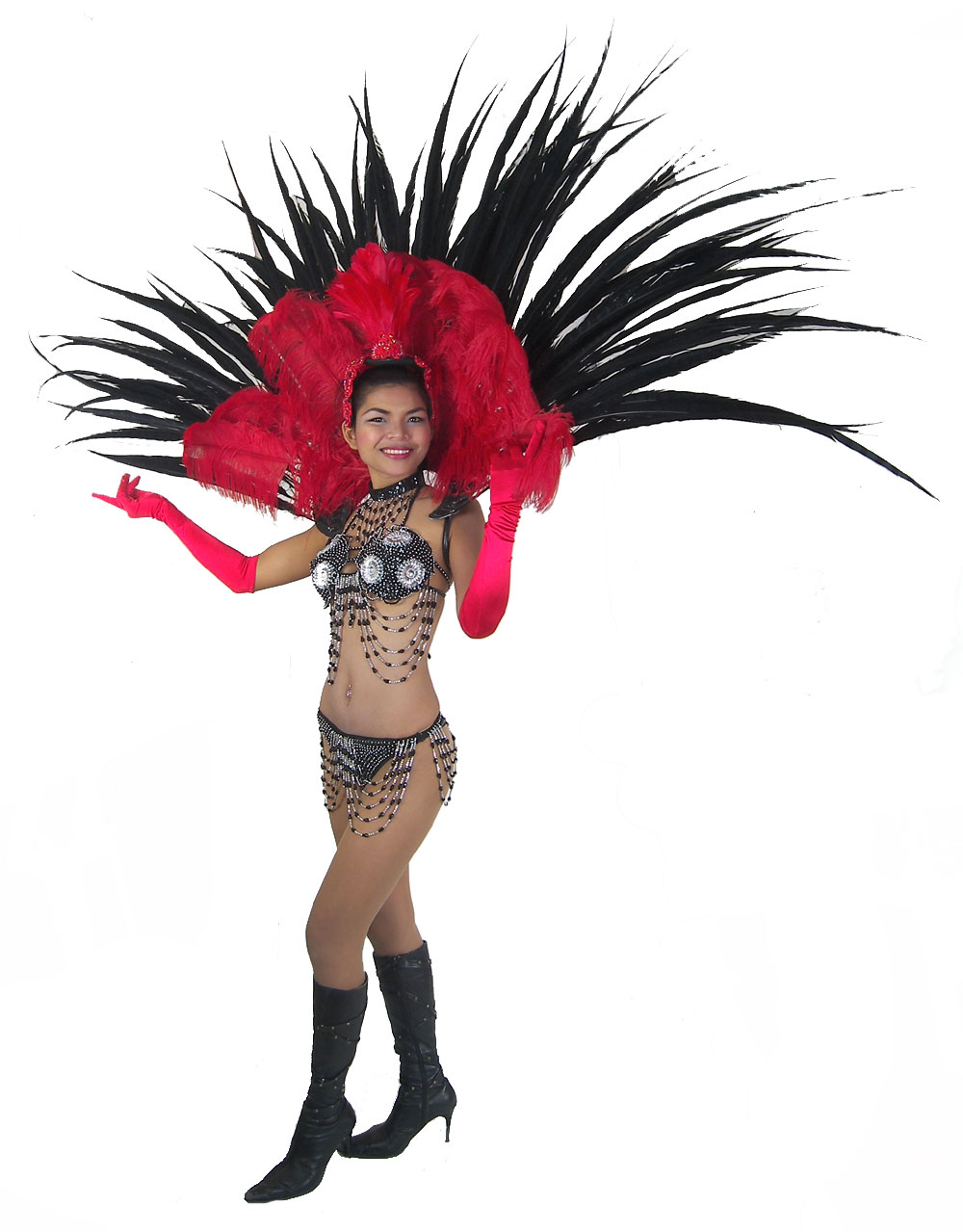 https://michaeljacksoncelebrityclothing.com/stage-cabaret-circus/RT03-las-vegas-show-girl-red-feather-back-harness-costume.jpg